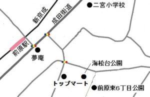 船橋10団活動拠点地図 (2017)